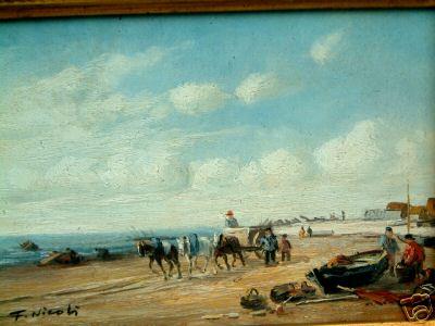 Chevaux de hallage à Blonville-sur-mer au XIXème